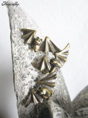 Pendientes de clip color bronce metal