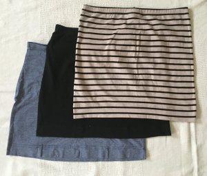 3 kurze Trikot Röcke von H&M, 38