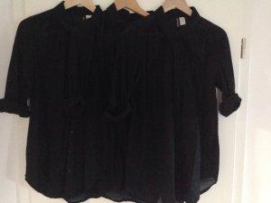 3 mal H&M Hemden Transparent&Cool