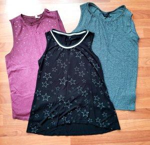 3 neue shirts Sternchen gr.m/l