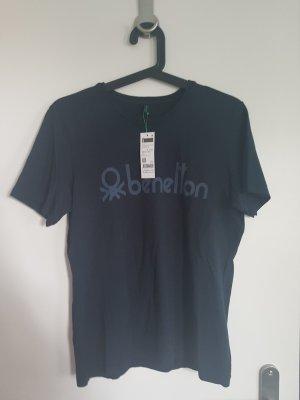 3 NEUE T-Shirts Benetton Größe S weiß, grau, blau