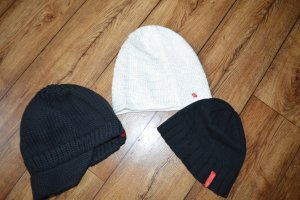 edc Chapeau en tricot noir-blanc