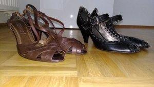 Peep Toe Pumps black-brown