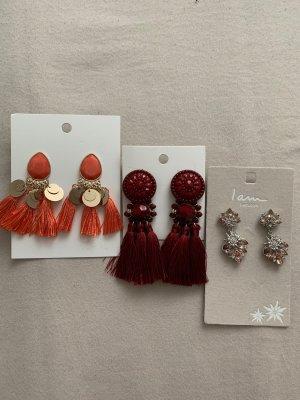 3 Paar neue ungetragene Ohrringe Quasten