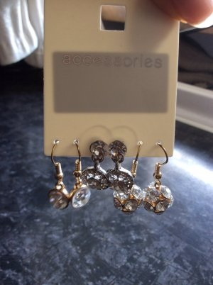3 Paar Ohrringe gold/silber