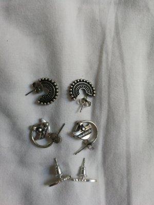 3 paar ohrstecker in Silber von H&M, ungetragen und vollständig!