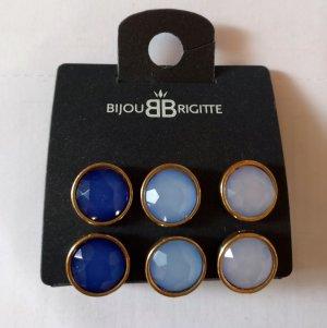 3 Paar schöne blaue Ohrstecker, Ohrringe