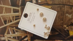 Silver Earrings white-gold-colored