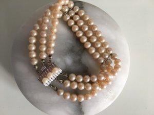 3 reihiges Perlenarmband 835er Silberschließe Art Deco Stil Vintage perlen elegant