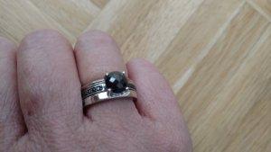 Anello argento-nero