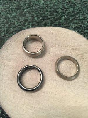 3 Ringe Edelstahl/Stein 53