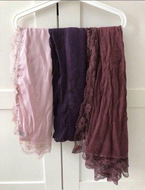 3 Schals mit Spitze (auch einzeln zu kaufen)