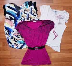 Bench Shirt violet-lichtblauw
