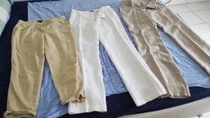 Benetton Pantalón de lino multicolor Lino