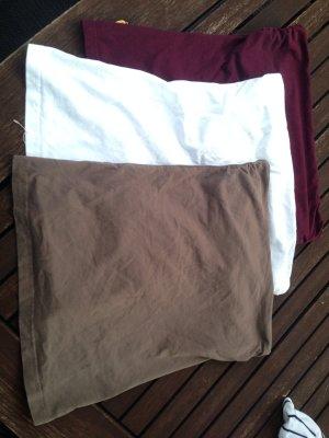 3 Schulterfreie Shirts - auch einzeln