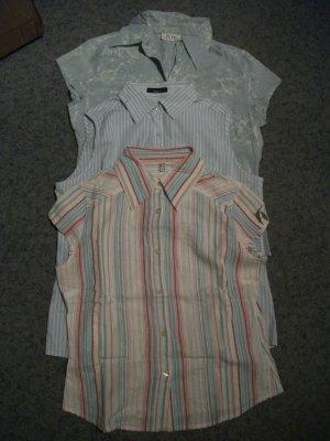 3 Sommer Blusen ohne Arm, Gr. 36, Baumwolle