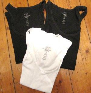 3 süße Ripp-Shirts von Levis TANKTOP Levi´s 2x Schwarz 1x Weiß Größe M