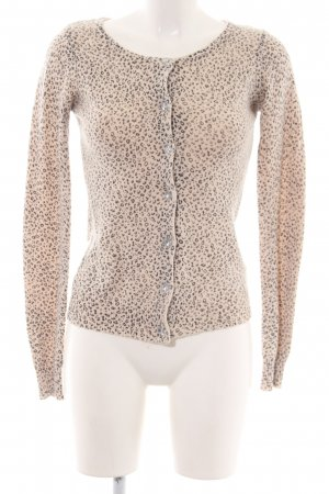 3 Suisses Cardigan natural white-black leopard pattern extravagant style