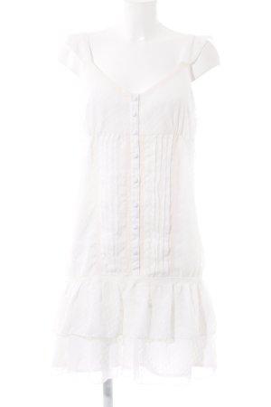 3 Suisses Vestido de chifón blanco puro look Boho