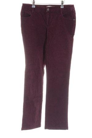 3 Suisses Pantalone di velluto a coste rosso stile casual