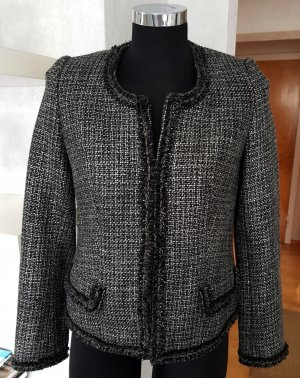 3 Suisses Wool Blazer black-silver-colored