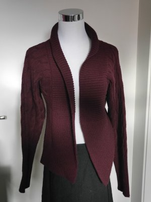 3 Suisses, extravagante Strickjacke, bordeauxrot, warm