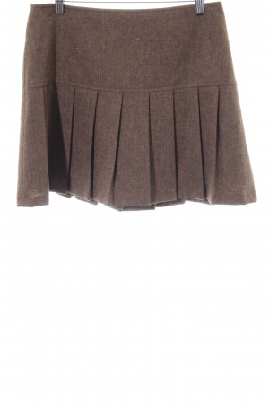 3 Suisses Plaid Skirt bronze-colored simple style