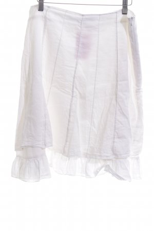 3 Suisses Plaid Skirt white simple style