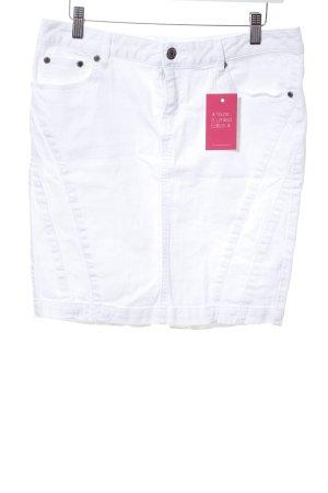 3 Suisses Denim Skirt white casual look