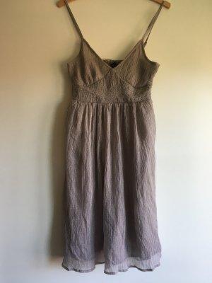 3 SUISSES Kleid Gr. 38 schick edel taupe weiße Pünktchen wNeu