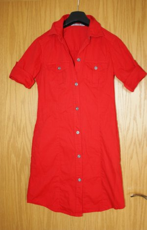 3 Suisses Shirtwaist dress red cotton