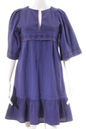 3 Suisses Abito a maniche corte lilla-blu-viola Motivo a maglia leggera elegante