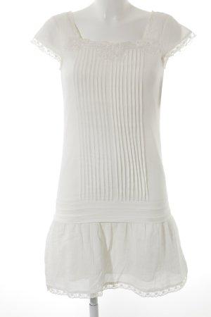 3 Suisses Vestido de manga corta blanco Estilo años 30