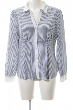 3 Suisses Long Sleeve Shirt blue-white striped pattern casual look