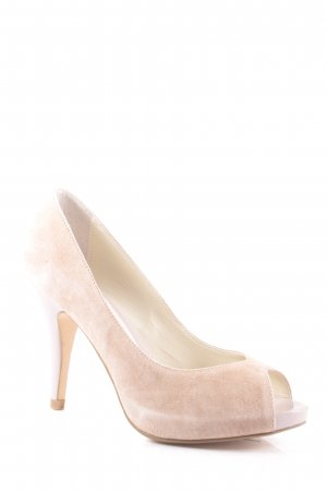3 Suisses Peeptoe Pumps nude Nude-Look
