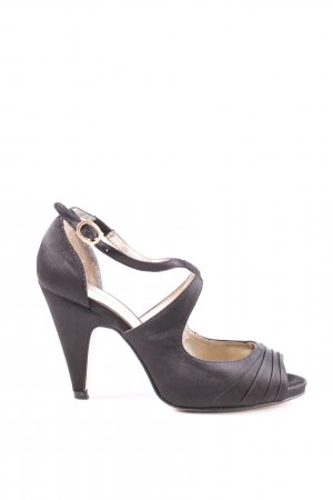 3 Suisses Strapped High-Heeled Sandals black casual look