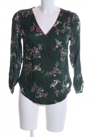 3 Suisses Slip-over Blouse green-pink allover print business style