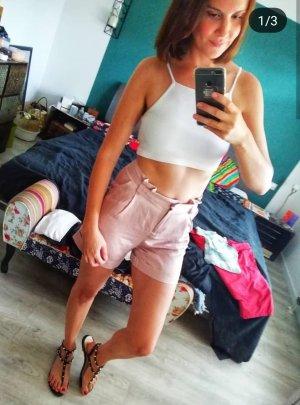 3 Suisses High waist short stoffig roze