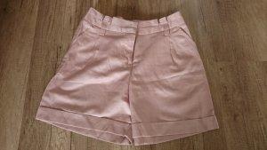 3 Suisses Shorts Hotpants Umschlag Bermuda Rosa Rose Rosé Taille Highwaist 34