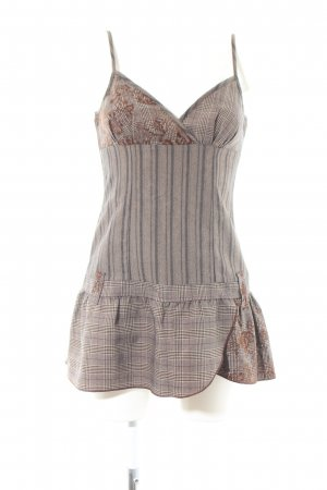 3 Suisses Pinafore dress light grey-brown flower pattern casual look