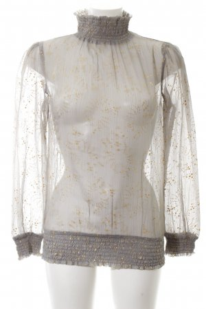 3 Suisses Transparent Blouse brown-gold-colored abstract pattern