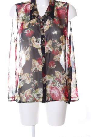 3 Suisses Transparent Blouse allover print casual look