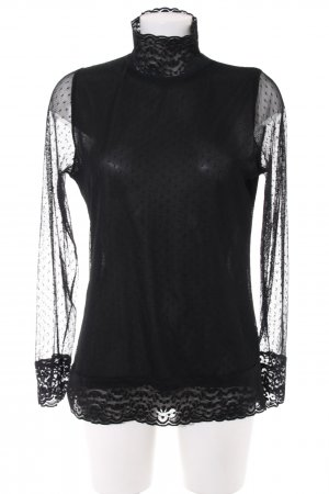 3 Suisses Transparent Blouse black spot pattern elegant