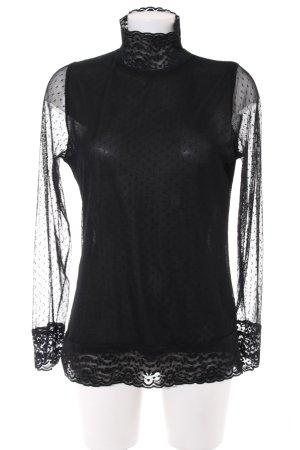 3 Suisses Transparenz-Bluse schwarz Punktemuster Elegant