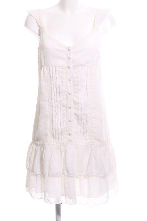 3 Suisses Vestido estilo flounce blanco puro elegante
