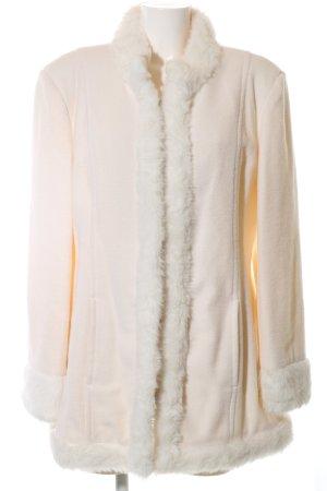 3 Suisses Abrigo de lana blanco puro elegante