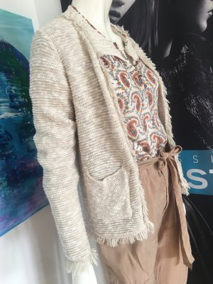 3 teile Outfit bohemian Look Weste chanel Stil Fransen SMALL