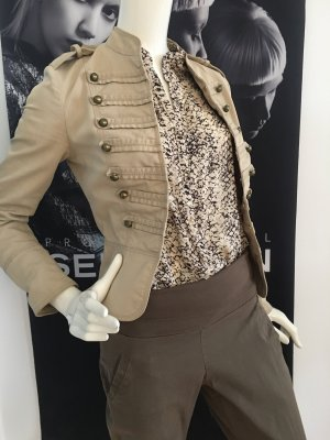 3 teile outfit Designer best Connection Bluse snake Print und Jacke ital Boutique Uniform