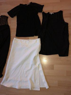 3 Teile von Koton Gr S/36 Rock, Chiffon-Top, schwarzes Shirt