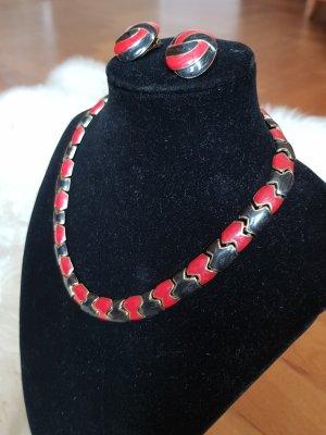 Collana nero-rosso